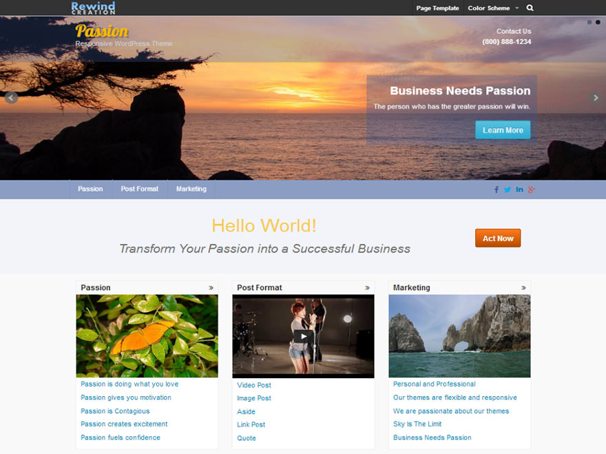 Free WordPress themes business