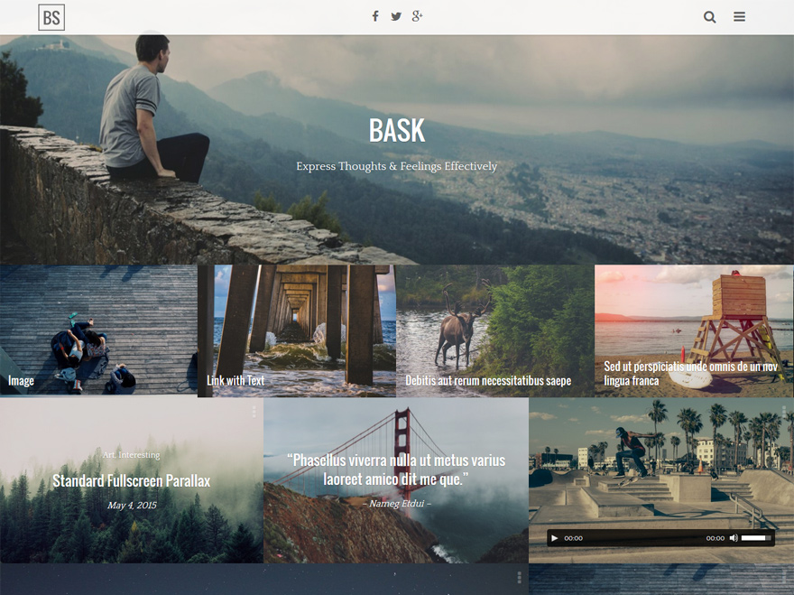 bask-simple-personal-wordpress-blog