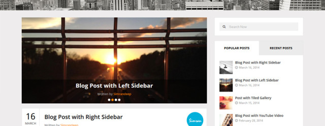 Clean and Modern Personal Blogging WordPress Theme