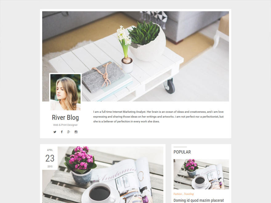 riverblog-clean-simple-wordpress-theme