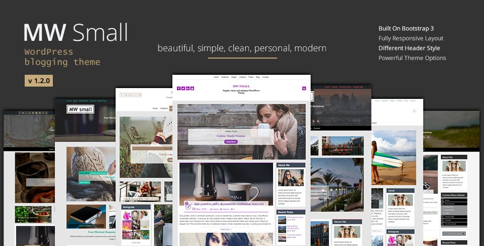 Minimalistic Blogging Theme Mw Small Responsive Wordpress Theme