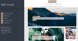 MW Small Free Blog Theme – New update ver 1.2.0