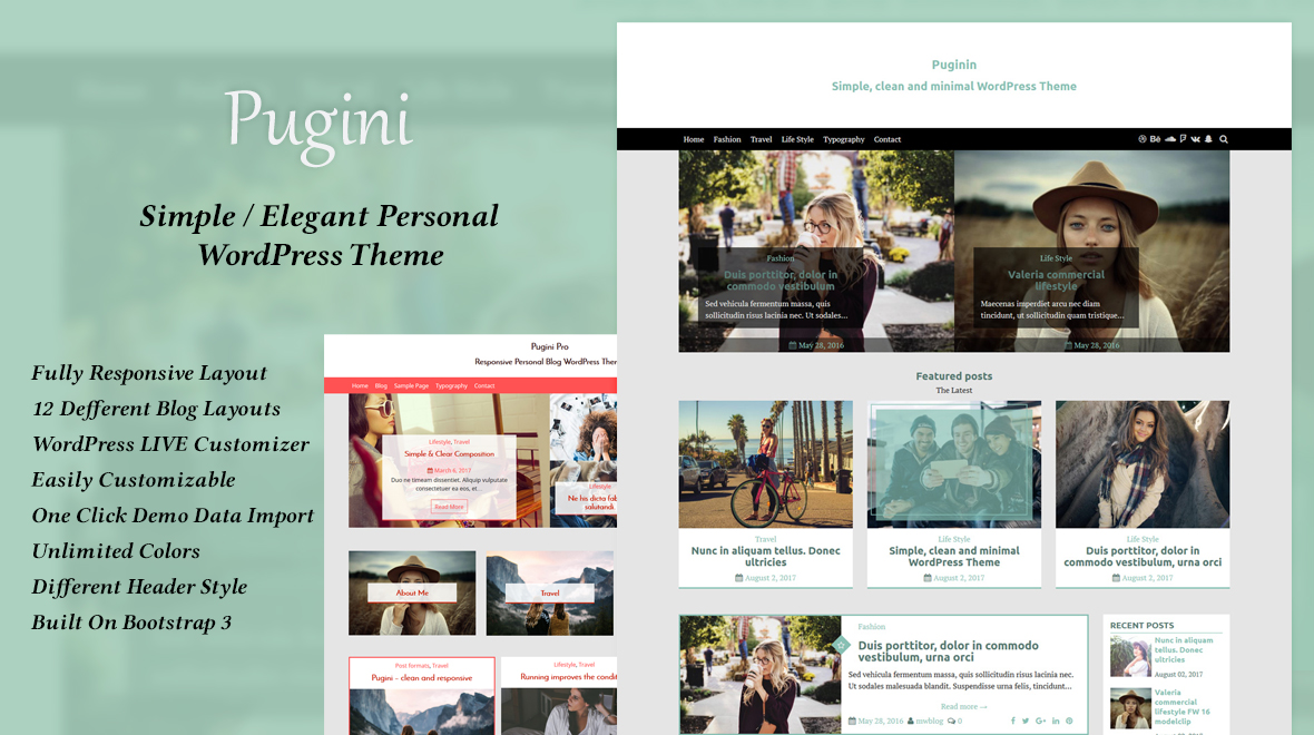 Clean & Personal Blog Theme