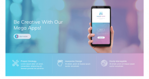 Creative, modern, clean and Responsive App landing page free WordPress